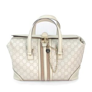 Unique Gucci GG supreme leather handbag